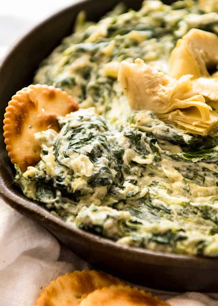 Spinach Artichoke Dip Recipetin Eats