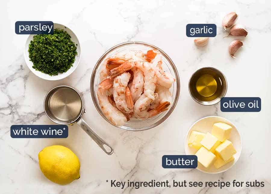 What goes in Garlic marinade for Garlic Prawns - garlic, olive oil, salt and pepper