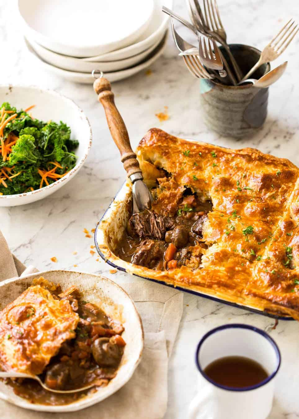 An EPIC Chunky Beef and Mushroom Pie. Prepare to swoon! recipetineats.com