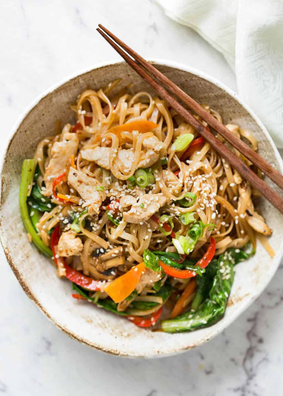 Chicken Stir Fry With Rice Noodles Recipetin Eats