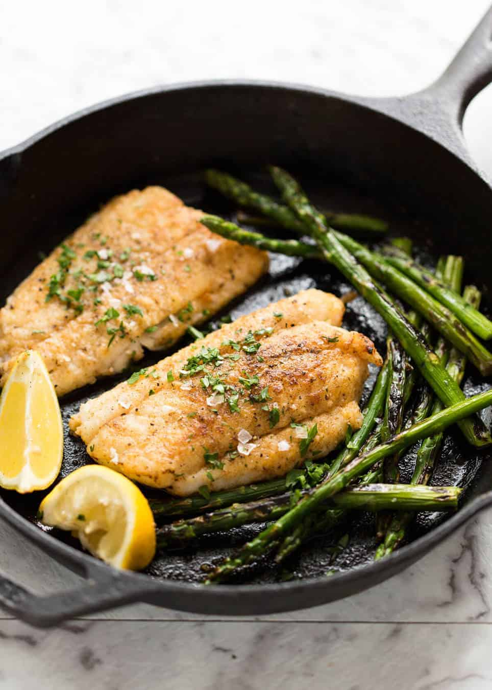 Making Crispy Pan Fried Fish without deep frying is simple - and so good! recipetineats.com
