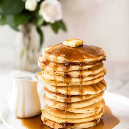 Simple, fluffy pancakes. What will you top yours with? www.recipetineats.com