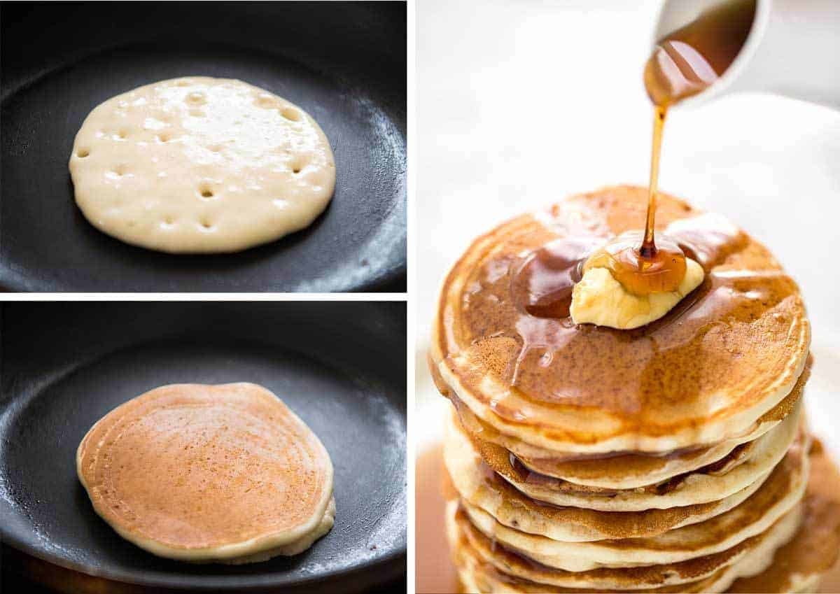 Simple, fluffy pancakes. What will you top yours with? recipetineats.com
