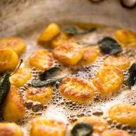 Easy Pumpkin Gnocchi with Sage Butter Sauce