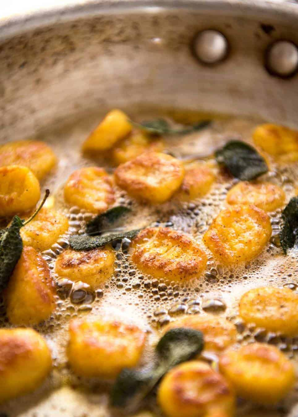 This Easy Pumpkin Gnocchi is, true to its name, easy to make. Pillowy ...