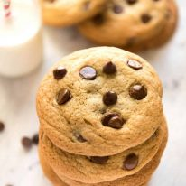 Miracle SOFT Chocolate Chip Cookies that are almost impossibly easy - no creaming butter, no beater, no refrigeration, no rolling dough. These are magical! www.recipetineats.com