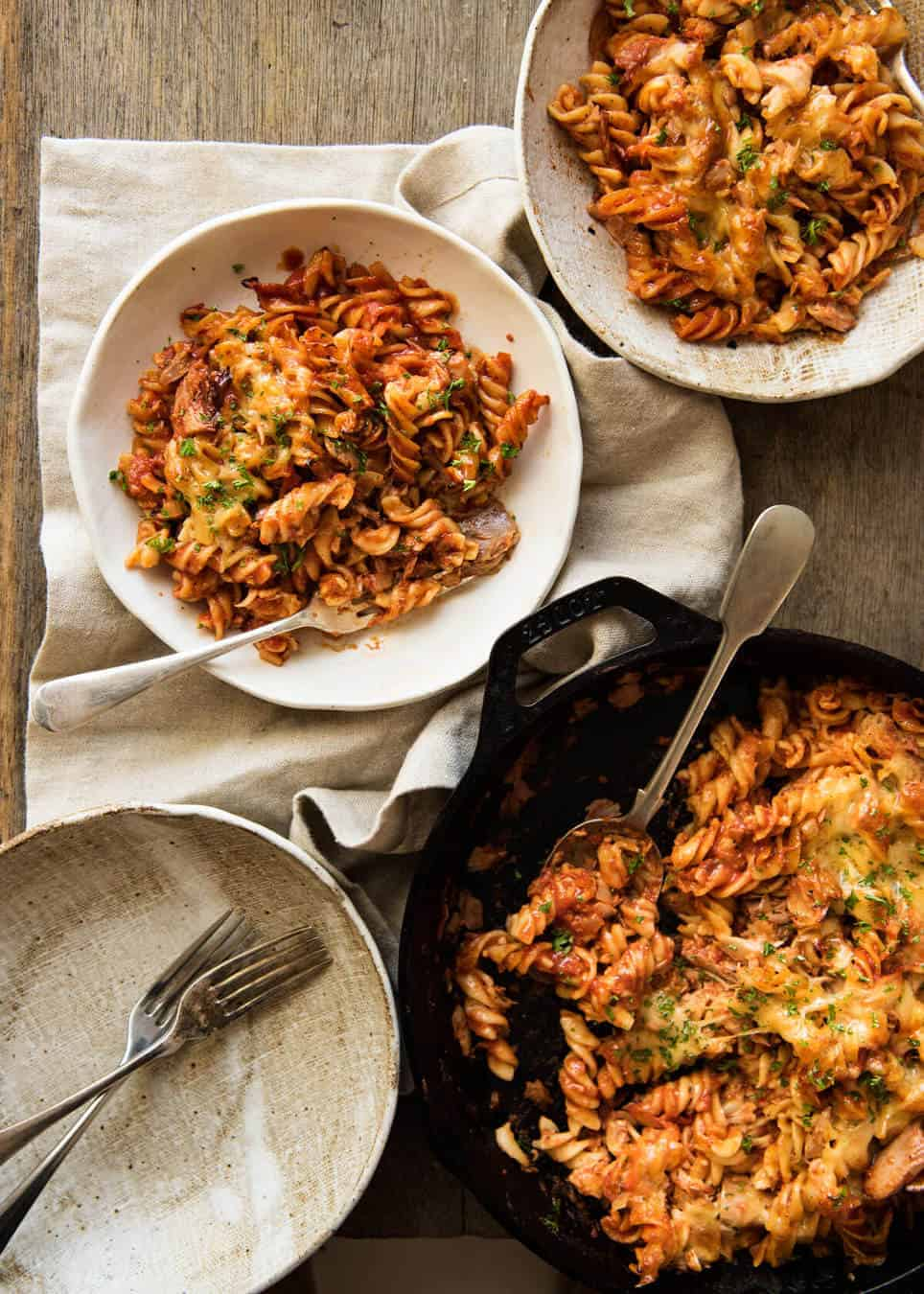 Everybody should know how to make a truly delicious Tuna Pasta Bake, for all those times when your cupboards are bare! recipetineats.com