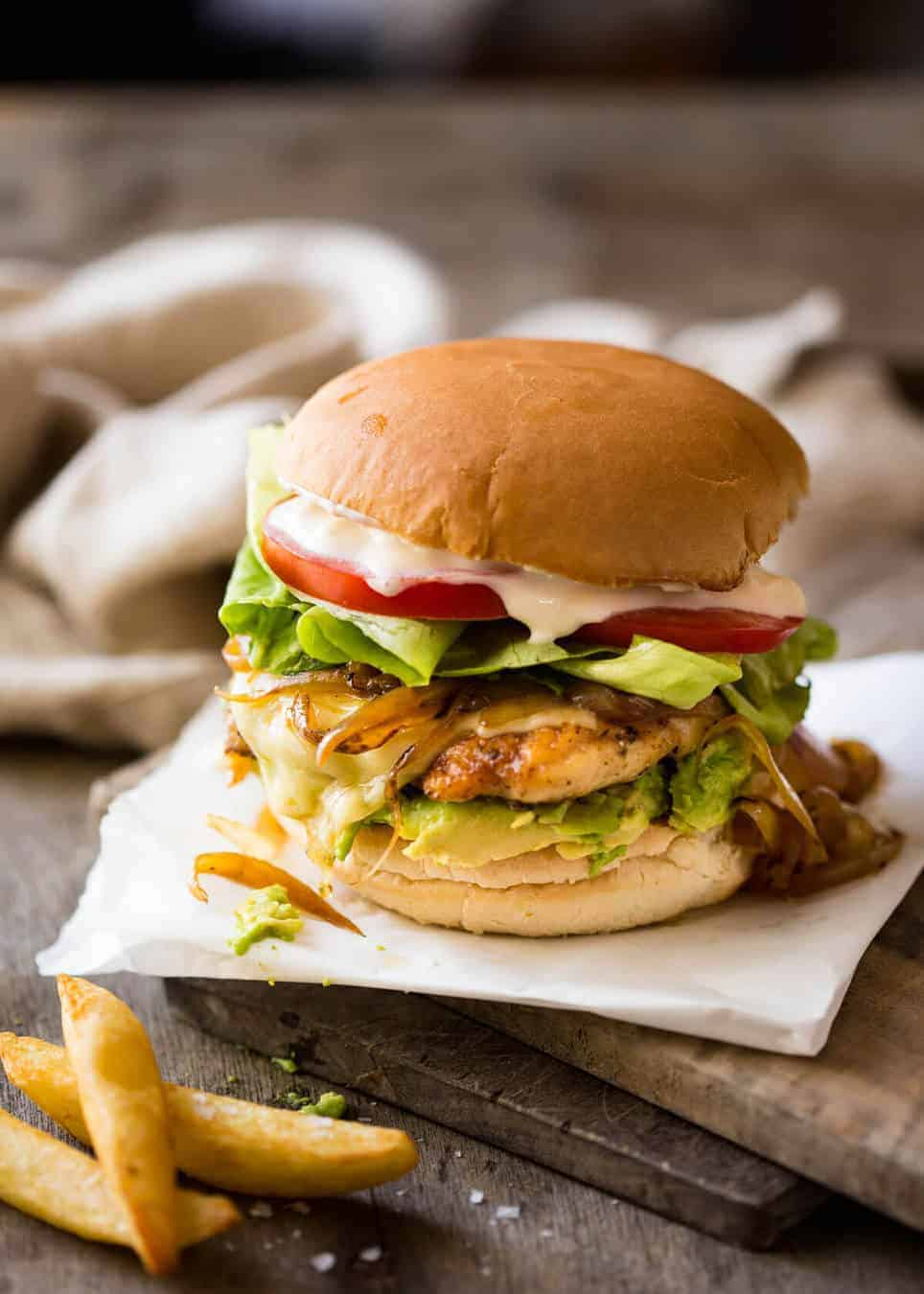 Chicken Burger Recipetin Eats