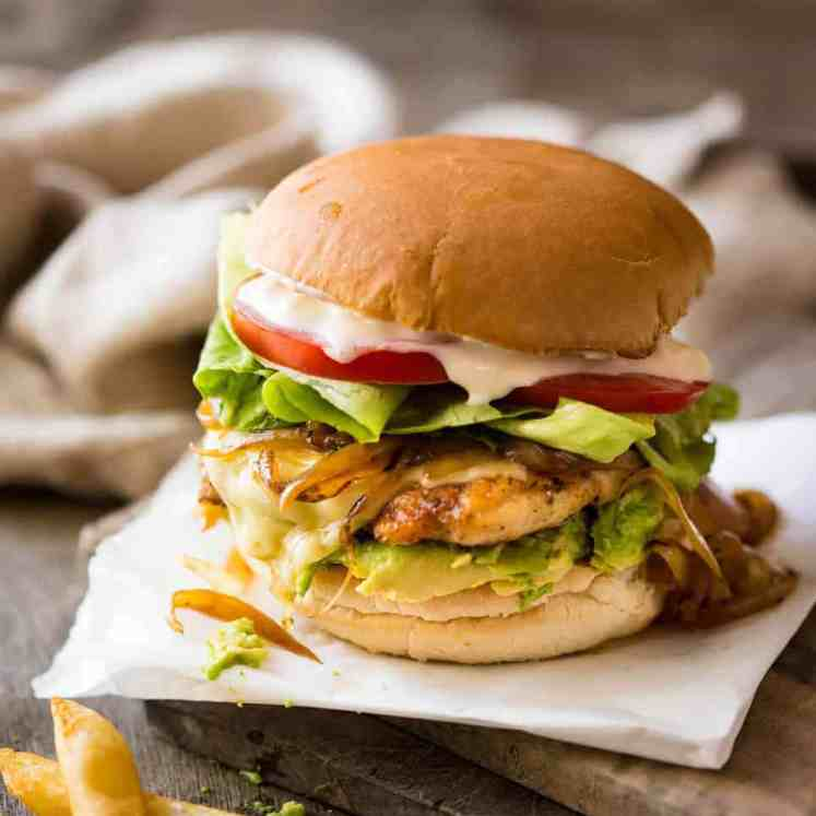 Super tasty, quick Chicken Burger recipe made with chicken breast. It's all in the seasoning! Great for grilling too. recipetineats.com