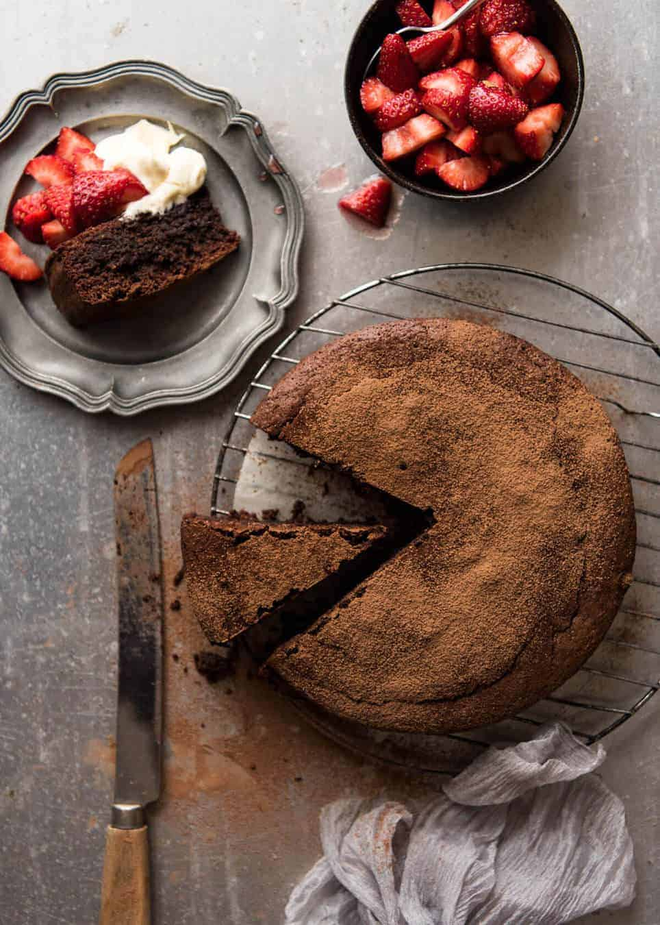 Flourless Chocolate Cake Recipetin Eats