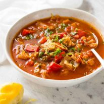 Ultra Tasty Healthy Vegetable Soup - My version of the Zero Weight Watchers Points soup. This has 0.4 points but it's countless times tastier! www.recipetineats.com