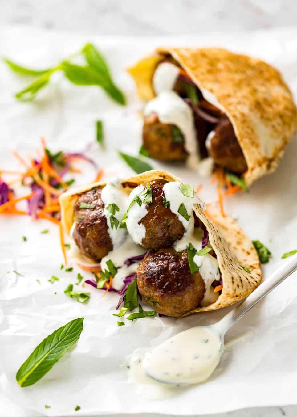 Moroccan Lamb Meatballs Recipetin Eats
