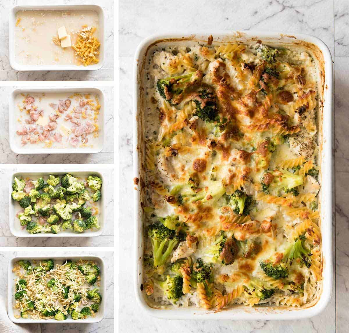 Ultra Lazy Healthy Chicken And Broccoli Pasta Bake Recipetin Eats