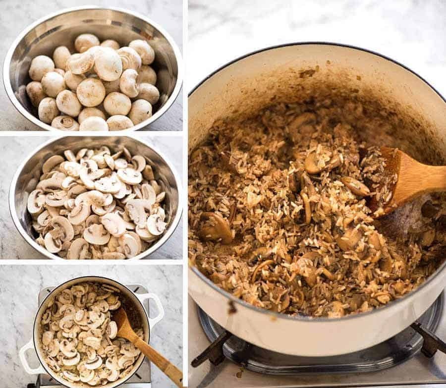 Preparation steps for Mushroom Rice recipe