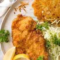 There is nothing quite like a freshly made schnitzel. Extra crunchy and golden, make this with pork, chicken, veal or turkey. recipetineats.com