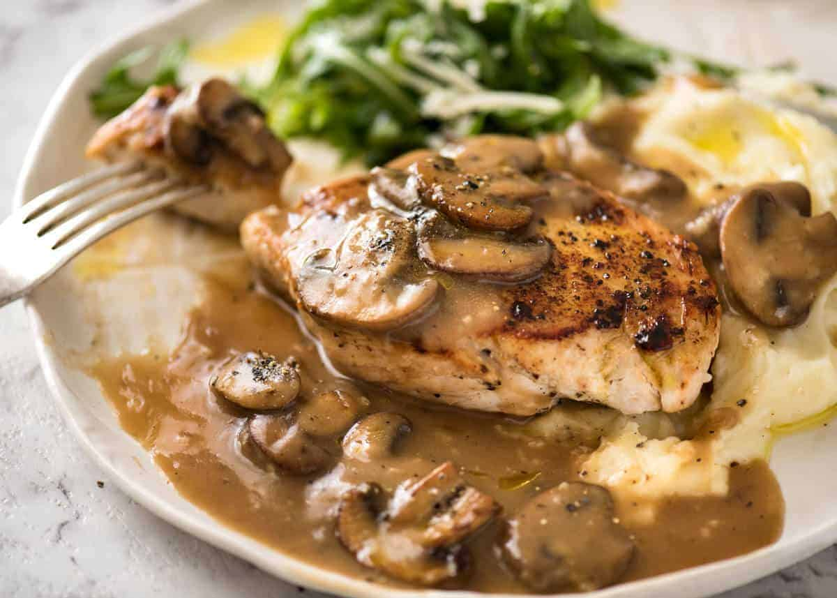Chicken With Mushroom Gravy Recipetin Eats