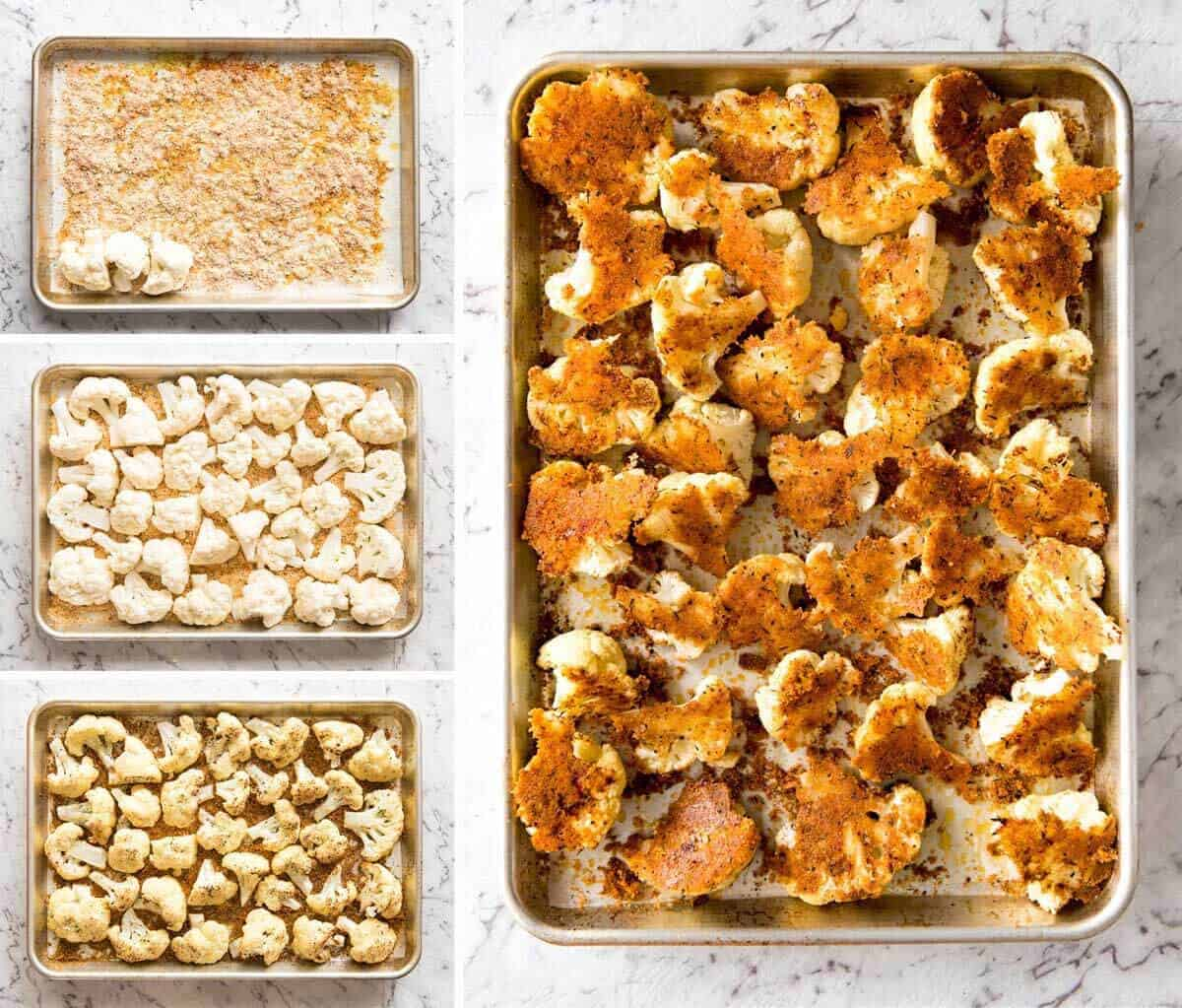 Try this Roasted Parmesan Crusted Cauliflower for dinner tonight! Serve it as a side or as a main meal, or how about as a healthy, low carb snack at a gathering? It's quick, easy and off-the-charts delicious! www.recipetineats.com