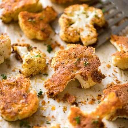Roasted Parmesan Crusted Cauliflower