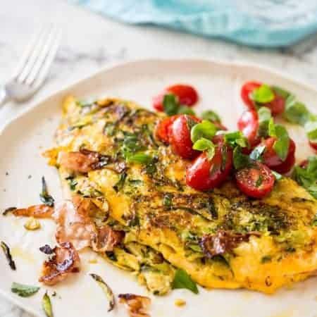 Ultra Lazy Zucchini Ham Cheese Omelette