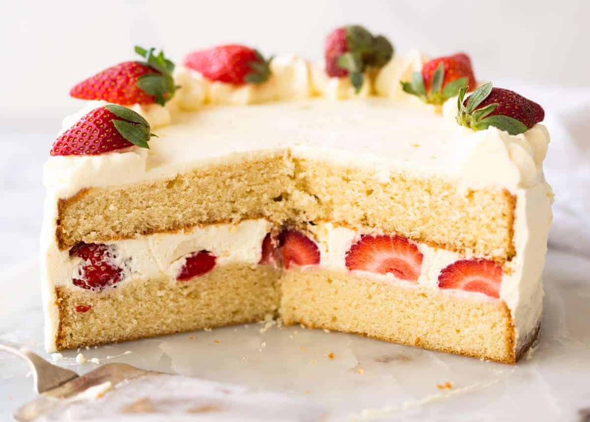 Old Fashioned Vanilla Cake Recipe