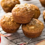 Freshly baked apple muffins