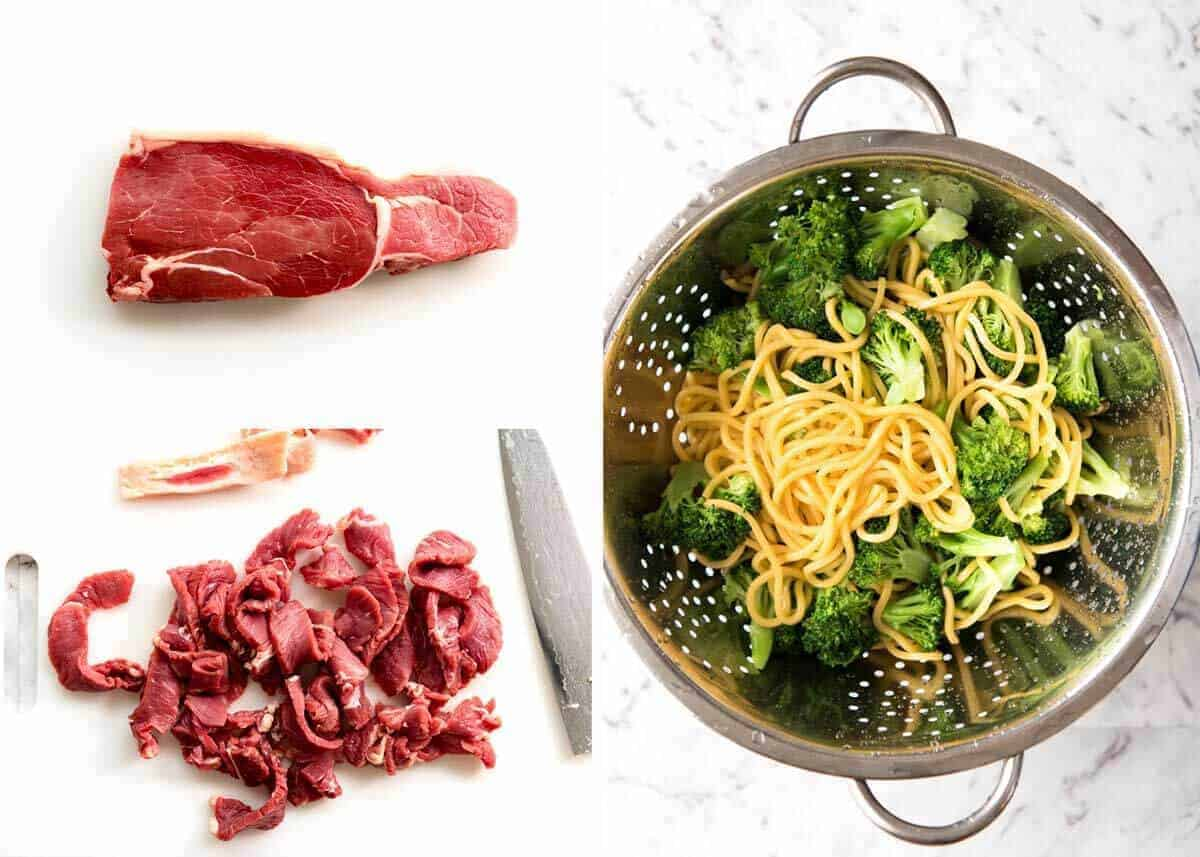 How to make Chinese Beef and Broccoli Noodles www.recipetineats.com