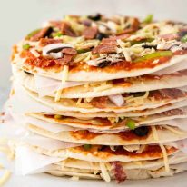 $2 Homemade Frozen Pizzas - quick and easy made using flatbreads, cook from frozen for a terrific Thin & Crispy pizza! www.recipetineats.com