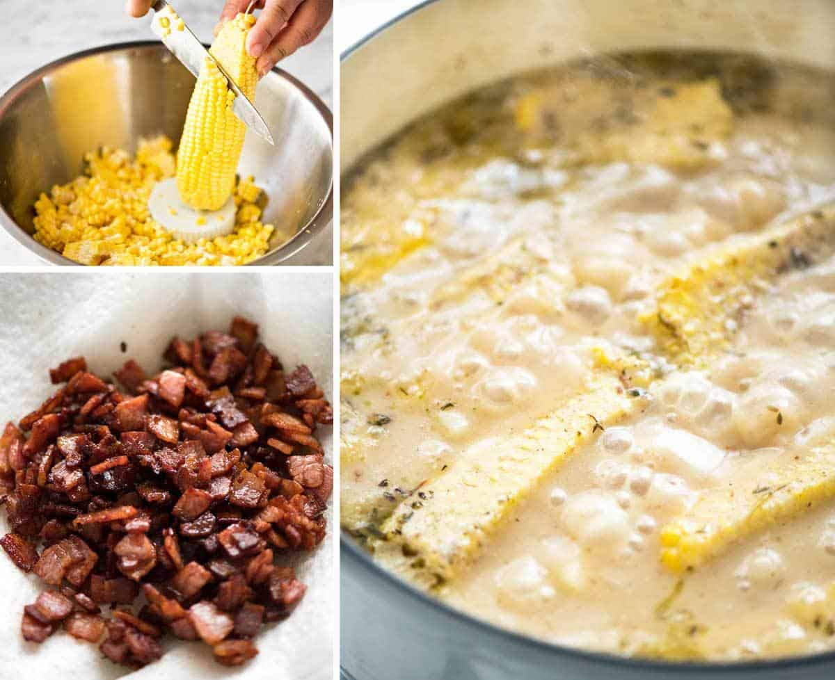 How to Make Corn Chowder with Bacon recipetineats.com
