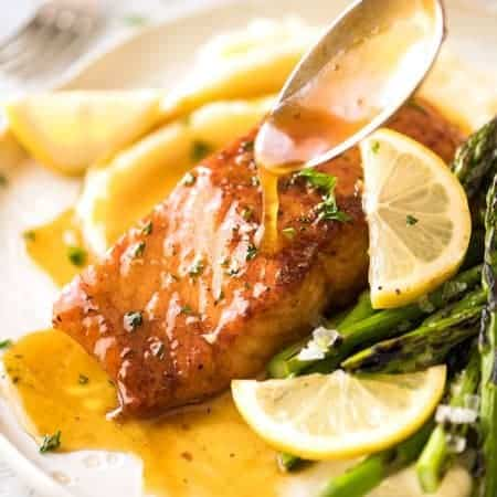 Lemon Honey Glazed Salmon