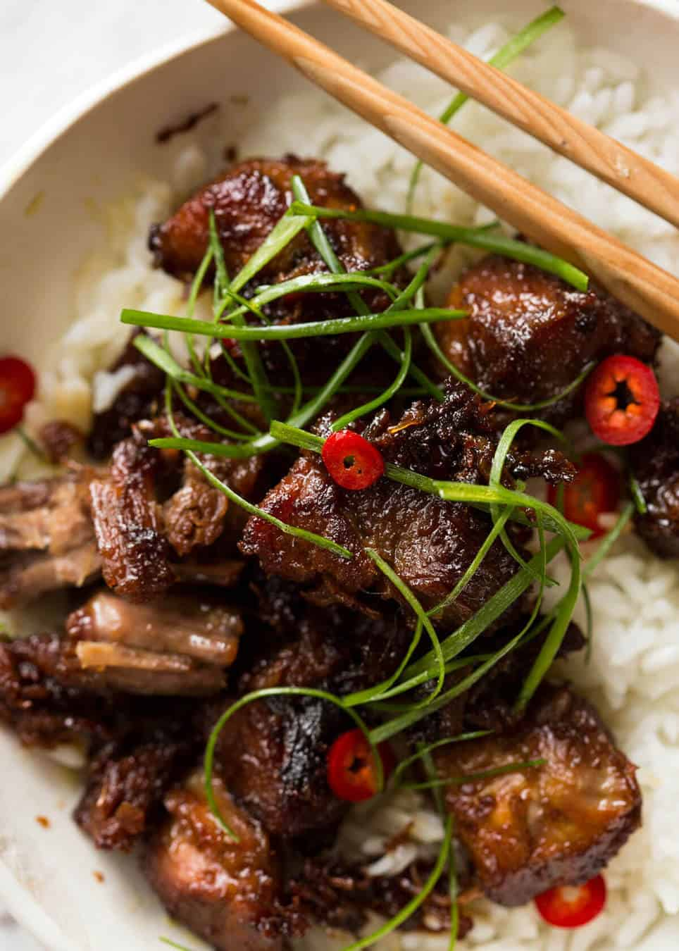 Vietnamese Caramel Pork is a simple, magical recipe - tender pork in a sweet savoury glaze and no hunting down unusual ingredients! www.recipetineats.com