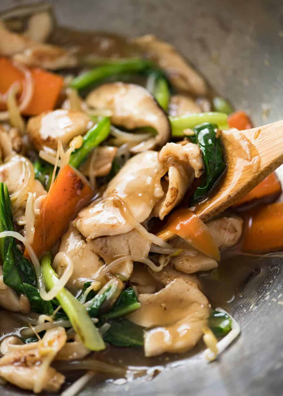 A great classic Chinese Chicken Stir Fry, also known as Chicken Chop Suey. Sauce truly tastes Chinese restaurant quality. Very quick and easy! www.recipetineats.com