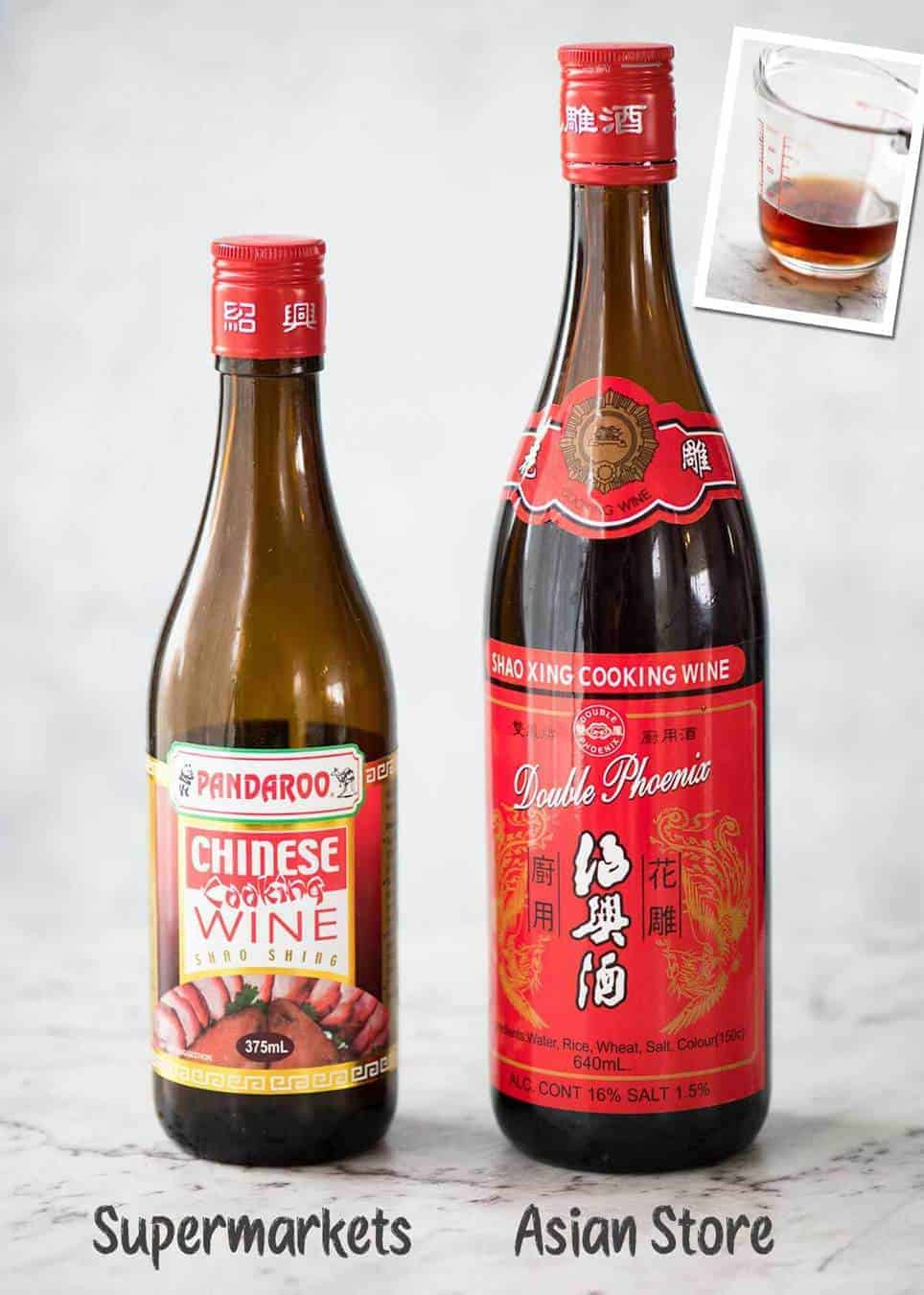 Chinese Cooking Wine (Shaoxing rice wine, Shao-hsing or Shaohsing) - an essential to make truly tasty stir fries like Chinese restaurants. www.recipetineats.com