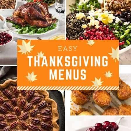 Easy Thanksgiving Menus www.recipetineats.com