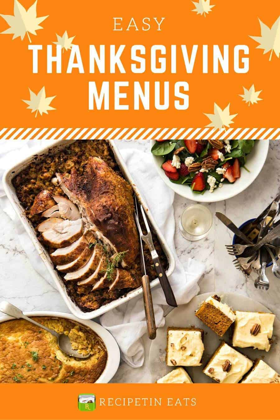Easy Thanksgiving Menus www.recipetineats.com