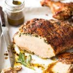 Garlic Herb Butter Roasted Turkey Breast with herb butter under the skin. Quick video tutorial provided. This is food so good, it will make you want to cry! www.recipetineats.com