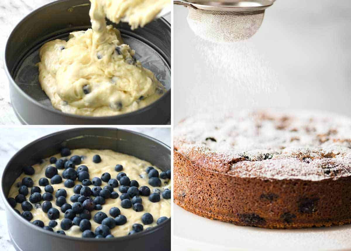 A lovely Blueberry Lemon Yoghurt Cake that's incredibly moist and astonishingly quick to make. recipetineats.com
