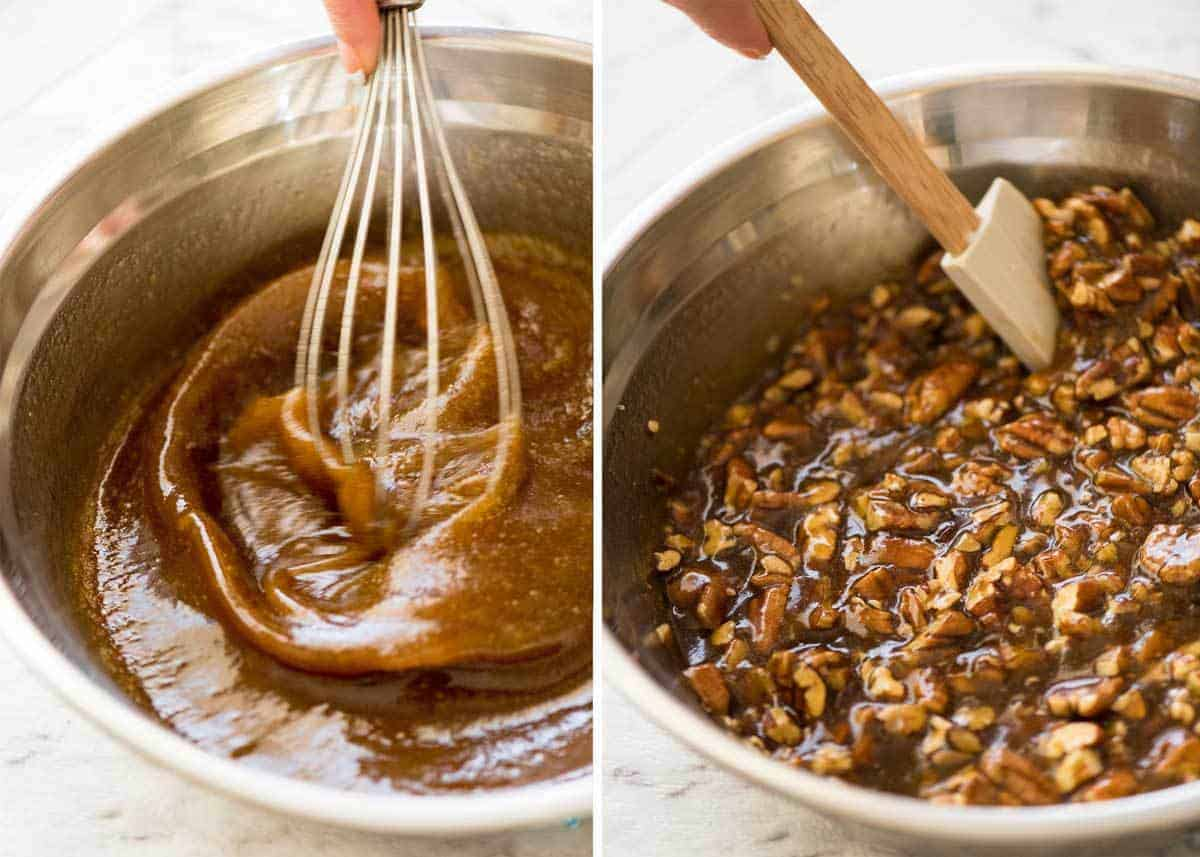 How to make Pecan Pie Filling www.recipetineats.com