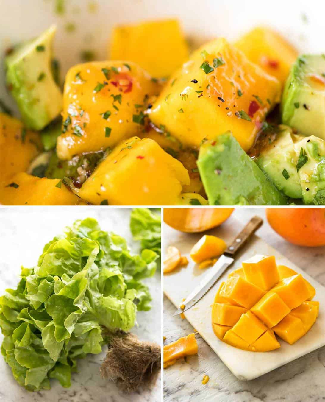 Avocado and Mango Salad www.recipetineats.com