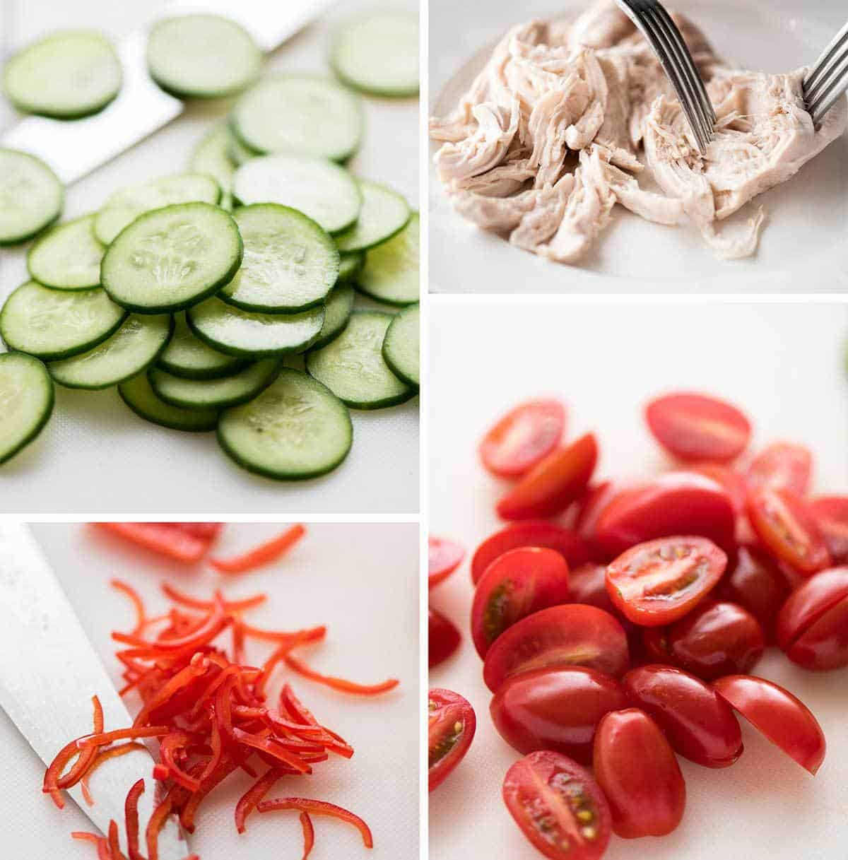 Thai Chicken Salad ingredients