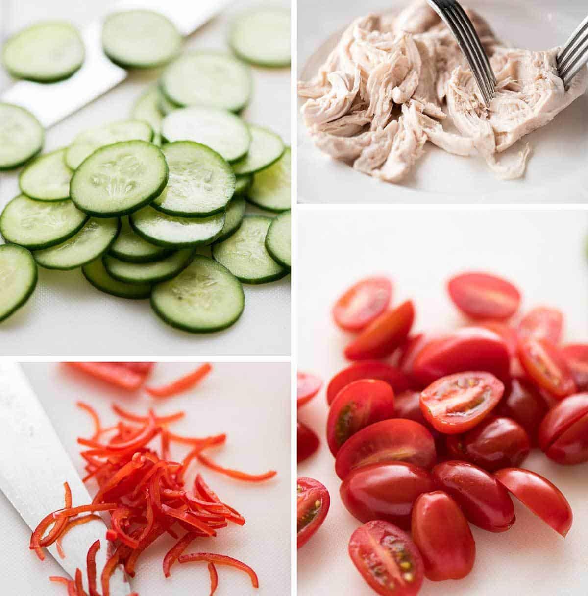Thai Chicken Salad ingredients