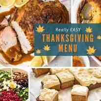 Really Easy Thanksgiving Menu recipetineats.com