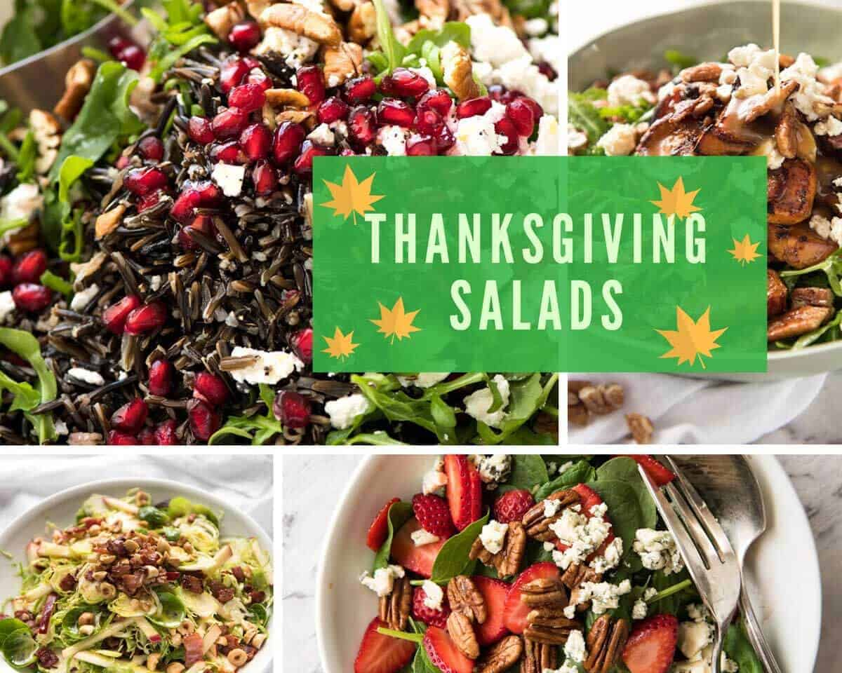 Salads for Thanksgiving Dinner www.recipetineats.com