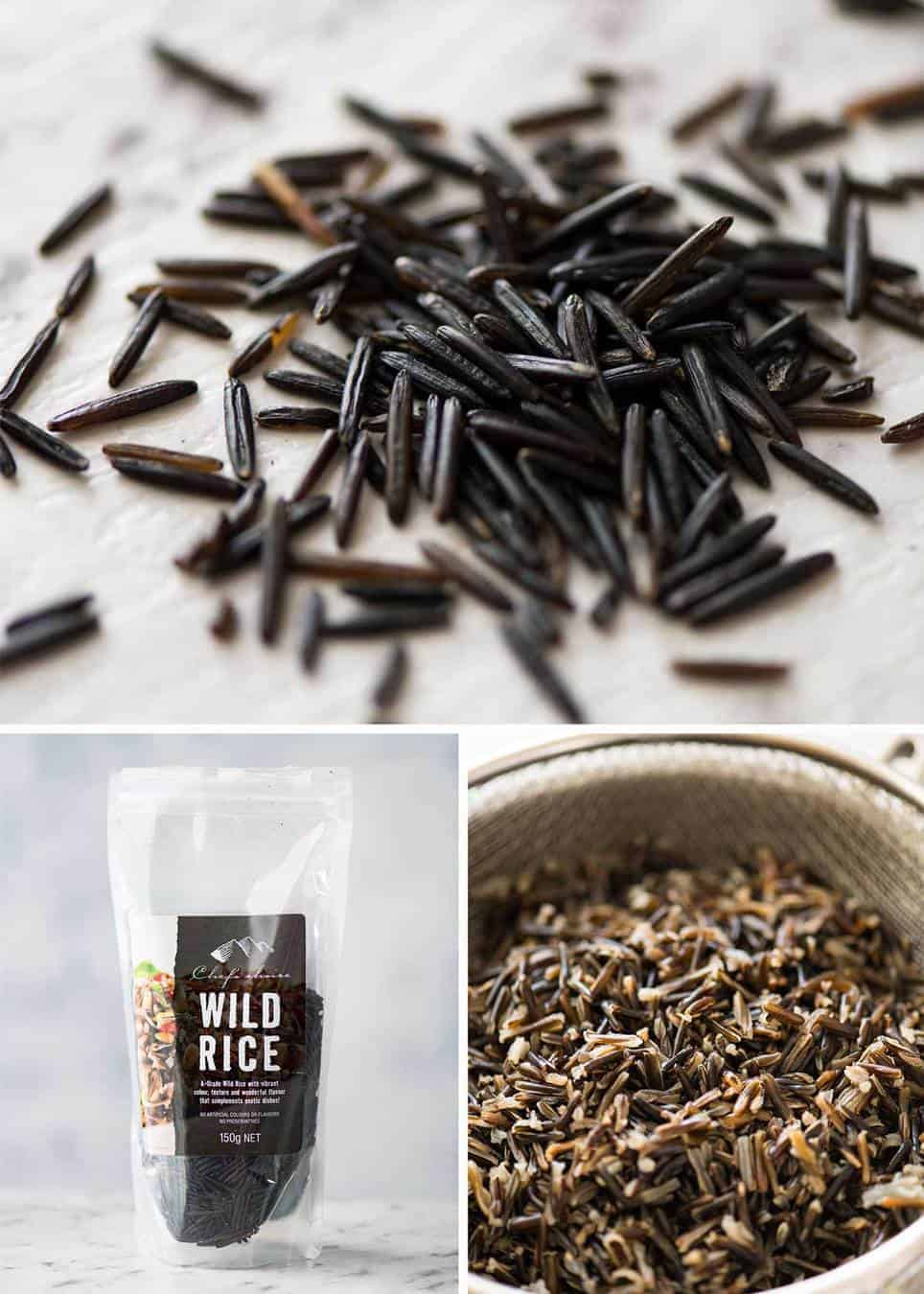 Wild Rice is actually a grain, not rice. It tastes nuttier and toasted, much more flavour than rice! recipetineats.com