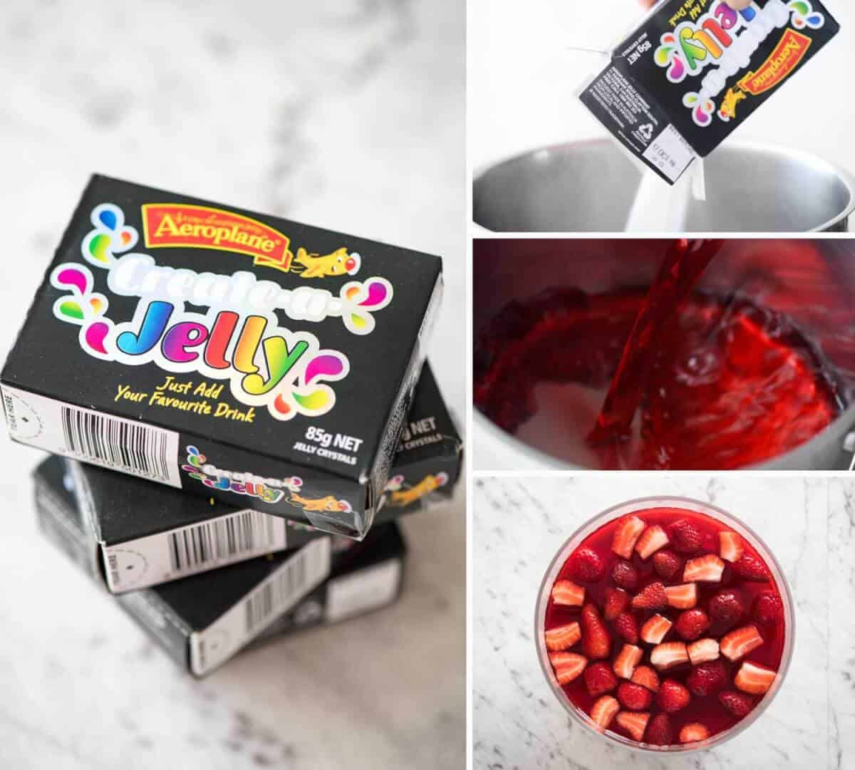 Cranberry Jelly using Flavourless Aeroplane Jelly