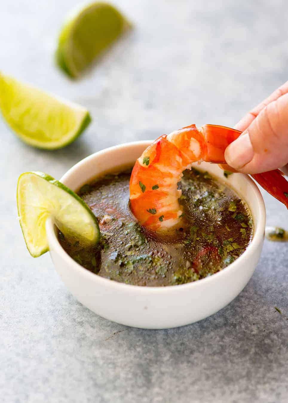 Thai Sweet Chilli Lime Sauce for Prawns (Shrimp) www.recipetineats.com