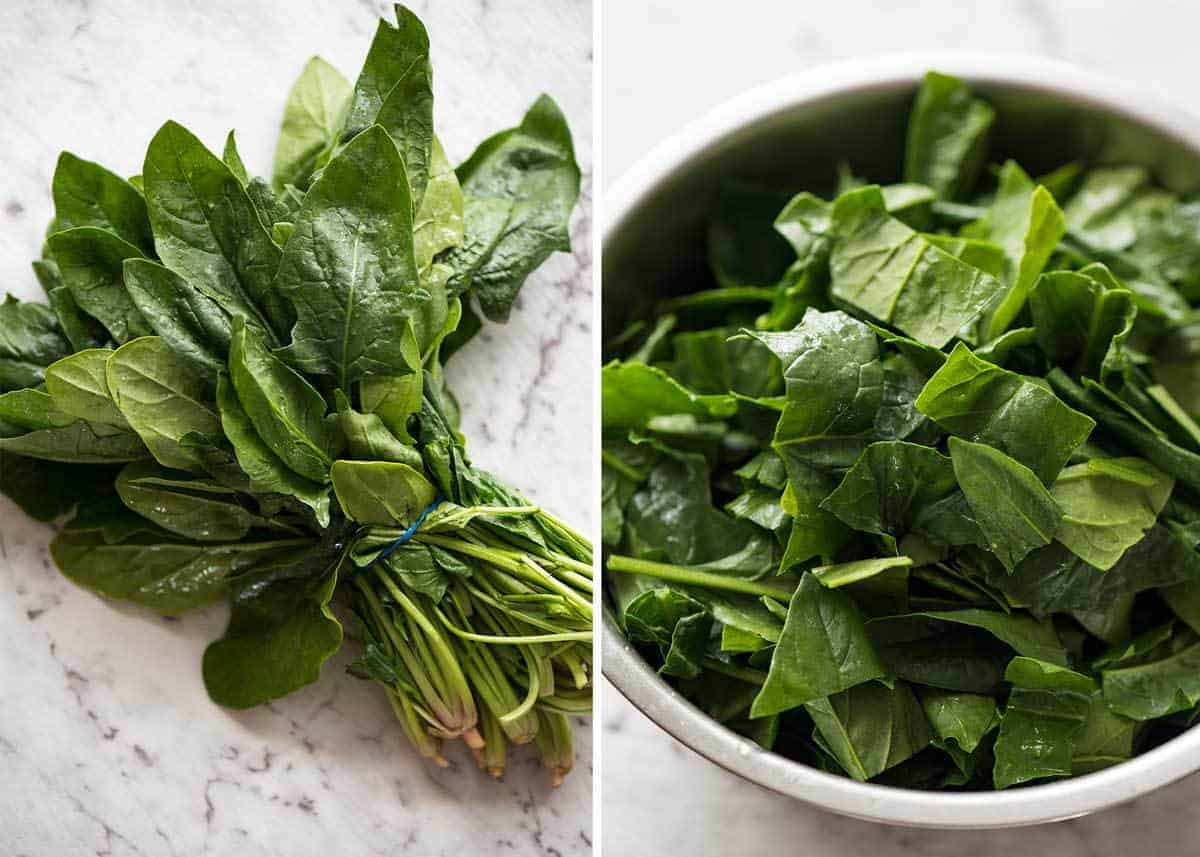 English Spinach for Middle Eastern Lamb, Chickpea and Spinach Soup recipetineats.com