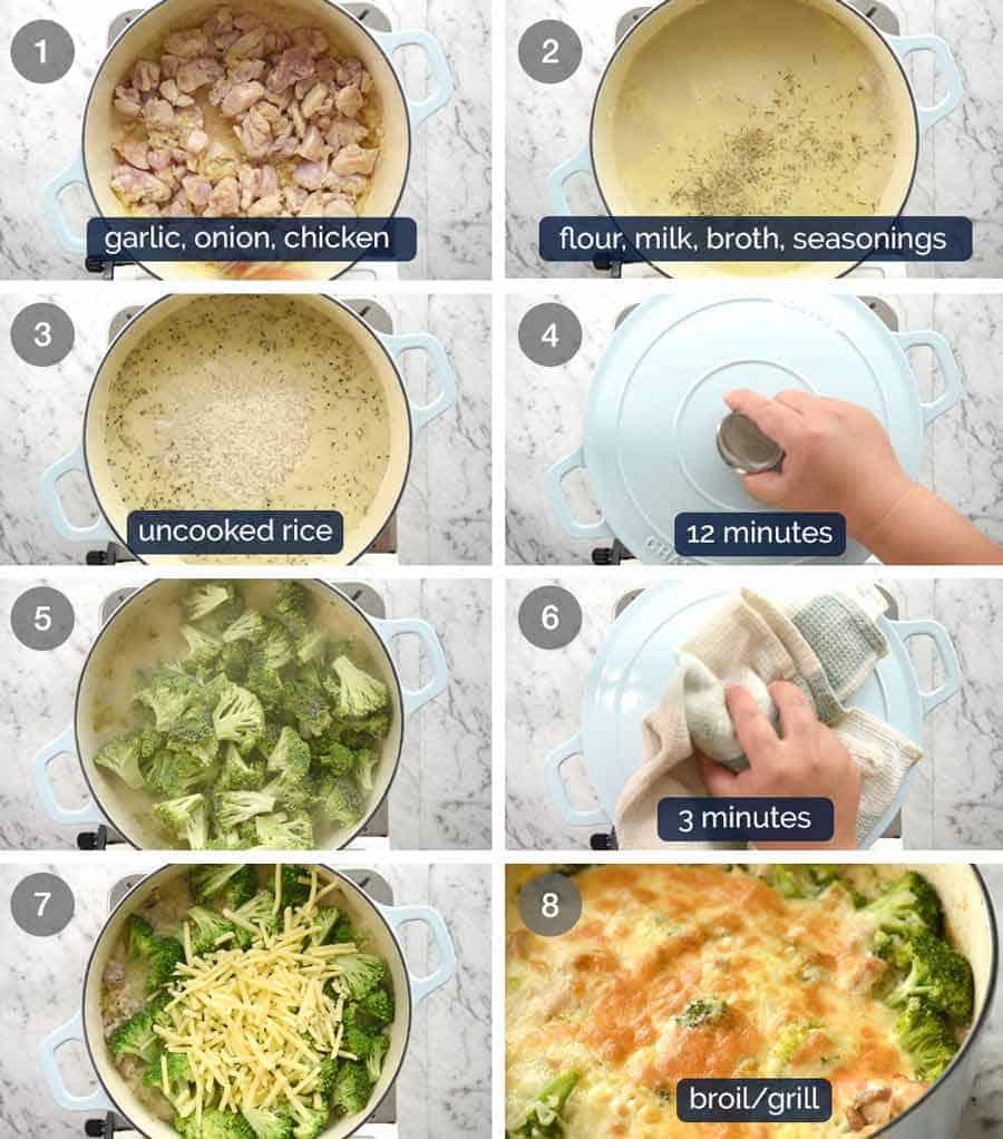 How to make One Pot Chicken Broccoli Rice Casserole