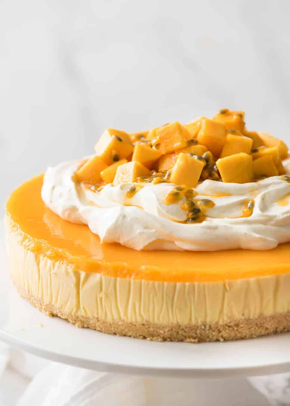 No Bake Mango Cheesecake RecipeTin Eats