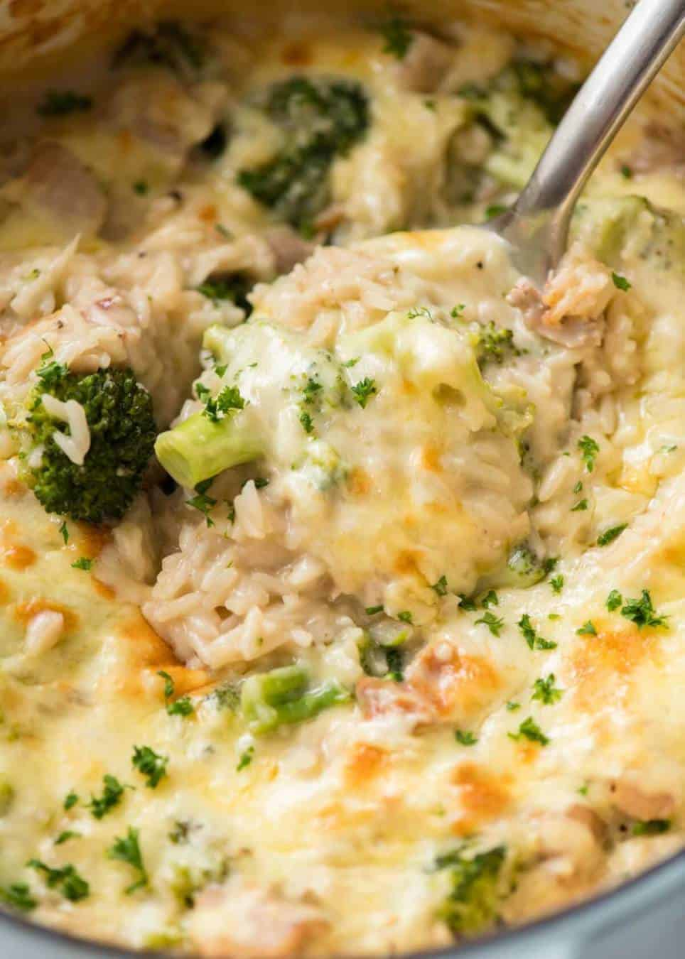 Made-from-scratch creamy, cheesy Chicken Broccoli Rice Casserole made in ONE POT! Tastes like risotto, but so much more straight forward to make. www.recipetineats.com