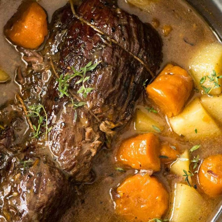 Slow Cooker Beef Pot Roast in a slow cooker